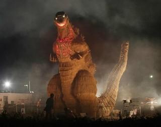 ワラの「シン・ゴジラ」 LED点灯中止 神宮外苑の火災をうけ.jpg